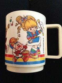 Vintage Rainbow Brite Plastic Mug Cup Hallmark 1983