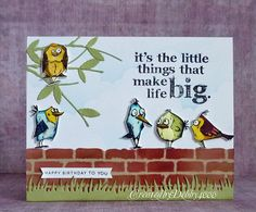 Honey I shrunk the birds by Debby4000 - Cards and Paper Crafts at Splitcoaststampers