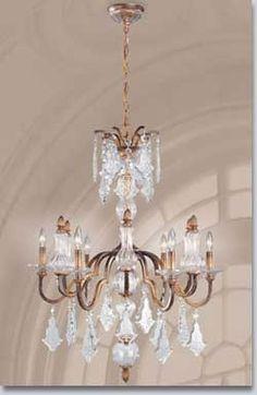 Adivina Large Brass & Crystal Chandelier. $733.  GrandLight.com