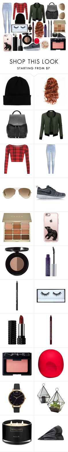 """Modern Merida"" by gigi-rose113 on Polyvore featuring NLY Accessories, rag & bone, LE3NO, WearAll, H&M, Ray-Ban, NIKE, Stila, Casetify and Urban Decay"