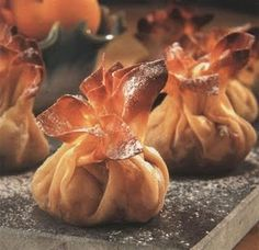 Chocolate Filo Parcels