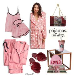 """PJs All Day: Lovely Loungewear"" by ragnh-mjos ❤ liked on Polyvore featuring J.Crew, DKNY and Gucci"