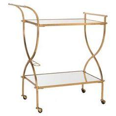 Francesca Bar Cart in Gold