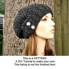 Knitting Pattern - Knit Hat Knitting Pattern - Knit Hat Pattern  for The Seed Beret Hat - PDF Pattern Womens Hat. $5.00, via Etsy.