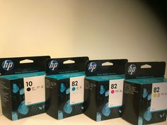 4 Genuine HP Ink Cartridges HP 82 Cyan Magenta Yellow + HP 10 Black Expiry 21/22 #HP