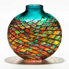 ( ⊙o⊙?) Glass Art  aqua teal turquoise