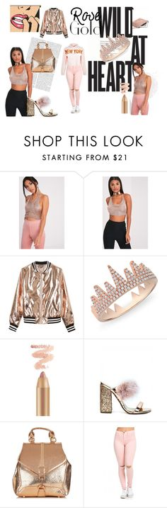 """""""rose gold bihhh"""" by naa215 on Polyvore featuring Sans Souci, Anne Sisteron, New Look and rosegold"""
