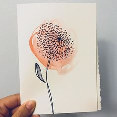 Trying simple yet elegant watercolor drawings. Thought it can be used as greeting cards, thank you cards? Double tap if you like! Watercolor Art Diy, Simple Watercolor Paintings, Simple Watercolor Flowers, Watercolor Trees, Watercolor Portraits, Watercolor Landscape, Abstract Paintings, Clipart, Doodle Art