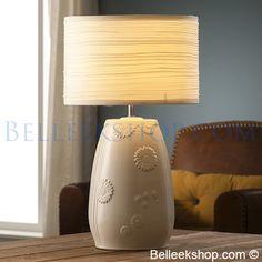 Belleek Sunflower Lamp and Shade Belleek Pottery, Design Elements, Table Lamp, Shades, Contemporary, Lighting, Elegant, Beautiful, Home Decor