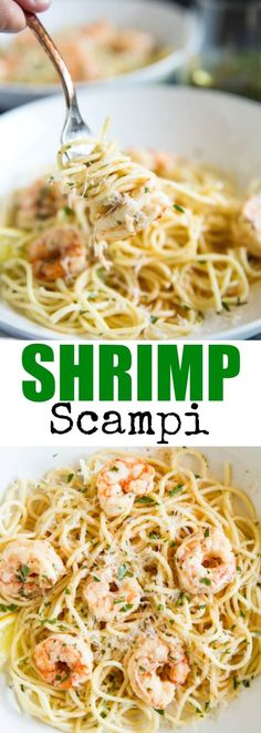 Quick and easy Shrimp Scampi is on the table in 30 minutes or less! And so buttery and delicious, the whole family will love it.