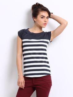 Roadster Striper Block Tee