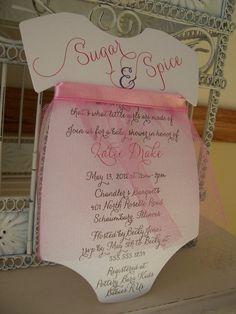 Sugar and Spice Baby Girl Shower Invitation by BeautifullyInviting, $2.20