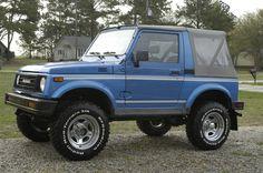 1986 Suzuki Samurai.  Cut many a day of school to drive to Santa Cruz in this vehicle.  Good times.