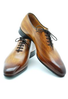 chaussure carlos santos haut de gamme patine marron