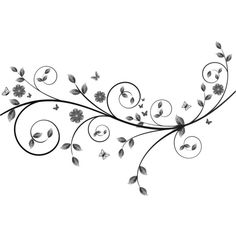 lileya brushes branches ❤ liked on Polyvore featuring backgrounds, flowers, swirls, deco and decor