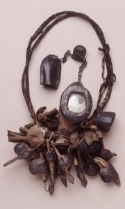 Hoodoo Magick Rootwork: Minkisi from the Congo, Africa.worn on the arm to protect from harm while traveling through the bush. Wiccan, Magick, Witchcraft, Congo, Voodoo Hoodoo, Sacred Symbols, Tribal Jewelry, African Jewelry, Tribal Art