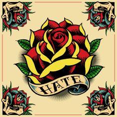 Best Retro Line Art Illustrations, Royalty-Free Vector Graphics & Clip Art Ed Hardy Tattoos, Tattoo Old School, Old School Tattoo Designs, Badass Wallpaper Iphone, Traditional Ship Tattoo, Ed Hardy Designs, Human Heart Drawing, Framed Tattoo, Tattoo Flash Art