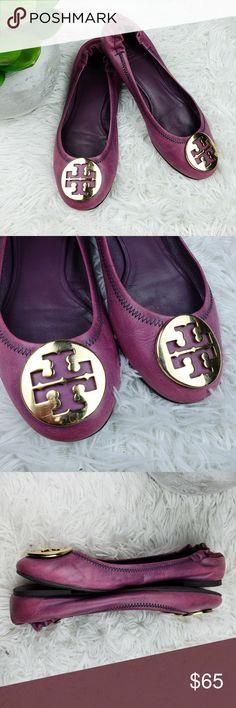 dd2c21fc1a4 Tory Burch 7M Afrikan Vegan Leather Purple Flats I m selling these Tory  Burch Reva