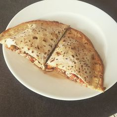 """""""Made a healthy calzone pizza today using a tortilla wrap.. Was so good  for anyone interested in my other food/recipes follow my other account @jsefitness #healthycalzone #pizza #recipes #proteinrecipes"""" Photo taken by @joeearlam on Instagram, pinned via the InstaPin iOS App! http://www.instapinapp.com (09/09/2015)"""