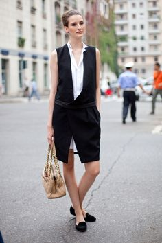 Street Style: It's a simple, well-vested ensemble.