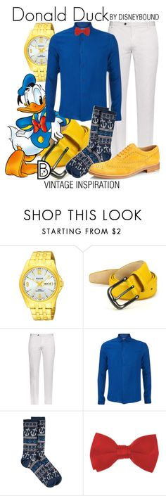 """Donald Duck"" by leslieakay ❤ liked on Polyvore featuring Saks Fifth Avenue Collection, Joseph, Orlebar Brown, Anonymousism, Tod's, vintage, men's fashion, menswear, disney and disneybound"