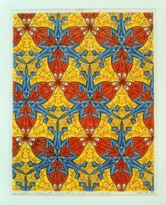 On show @ Museum of the Tropics till November. M.C. Escher, Driehoek-systeem, 1952, inkt, potlood, aquarel © the M.C. Escher Company B.