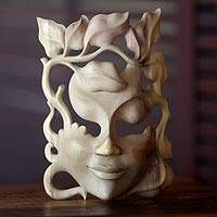 Handcrafted Contemporary Leaf Mask