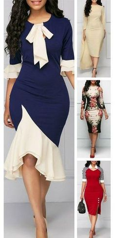 Dress Sketches For Fashion Designing Beginners past Bodycon Dresses Lace by How To Wear A Bodycon Dress Casually -- Dress Fashion Trends Of The up Fashion Dress Ki Design Cute Dresses, Vintage Dresses, Cute Outfits, Trendy Dresses, Formal Dresses, African Wear, African Dress, Xl Mode, Dress Up