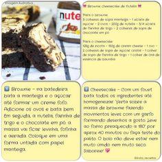 Brownie cheesecake de Nutella
