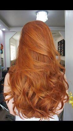 Intensiv röd hårfärg