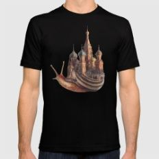The Snail's Daydream Mens Fitted Tee Black LARGE