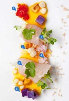 The 60-Mile Plate: Local Kampachi Tiradito at Alan Wong's Amasia in Maui: #food; #hautecuisine; #foodart