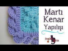 Kabartma Çiçekli Battaniye Motifi - YouTube