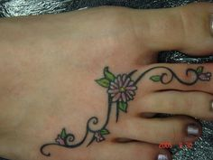 placement is cute but I'd have him draw it closer to the outside of the foot down to toe#4, not toe #2