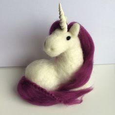 Needle Felted Unicorn Handmade different coloured hair
