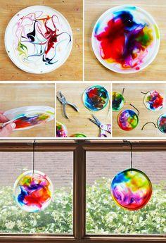 postup Tvoření s dětmi - hraní s barvami