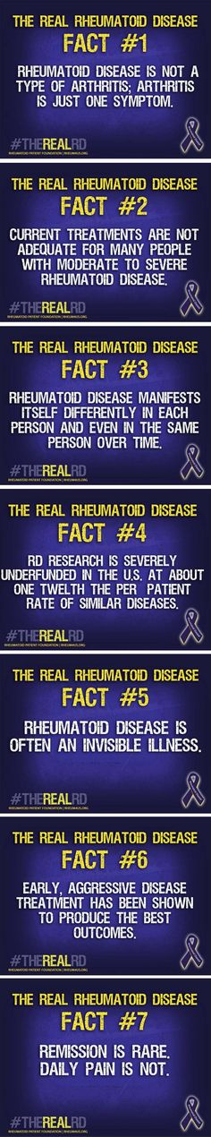 7 Facts about The Real Rheumatoid Disease. Support the Rheumatoid Patient Foundation at rheum4us.org