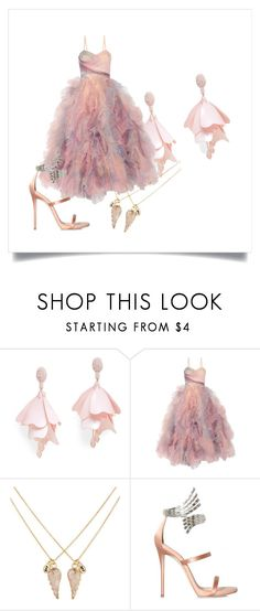 """prom"" by hannahfaloon on Polyvore featuring Oscar de la Renta Pink Label, Marchesa, Accessorize and Giuseppe Zanotti"