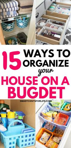 15 Clever Dollar Store Organizing Hacks Whether you're looking to organize your kitchen, bathroom, closet, bedroom or pantry, here are 15 dollar store organizing ideas! Organize your entire house on a budget! Inexpensive DIY projects and ideas to declutte Dollar Store Hacks, 15 Dollar Store, Dollar Stores, Diy Organizer, Organizing Hacks, Kitchen Organization, Diy Hacks, Organization Ideas, Organization Store