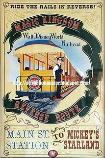 Disney Railroad Poster
