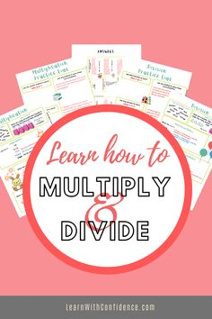 So many children struggle with multiplication and division. This resource will be invaluable to you in teaching your child the basic knowledge they need to multiply and divide. Practice questions and memo included. Division, Divider, Learning, Studying, Teaching, Room Screen, Onderwijs