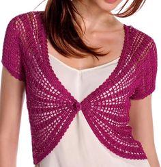 Crochet Sweater: Crochet Bolero Pattern - Elegance