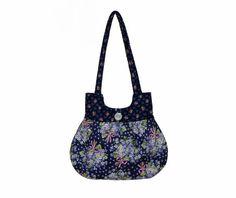 ......Handmade Cancer Awareness Handbag Navy Blue Pink by craftcrazy4u, $37.00......