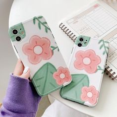 $11.76 | SoCouple Phone Frame Silicone Phone Case For iPhone 11 Pro Max XR XS Max 7 8 Plus X SE Cute Flower Pattern Soft IMD Back Cover Outfit Accessories FromTouchy Style | Free International Shipping.
