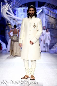 JJ Valaya white bandhgala for men