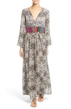 Volcom 'Deep South' Print Embroidered Maxi Dress