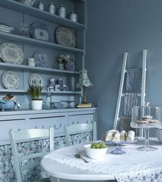 Vintage blue ... serene and so pretty from CountryLivingUK.