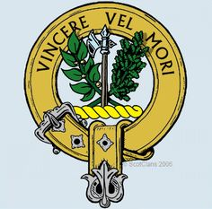 MacLaine od Lochbuie Clan Crest: Descending from the royal house of Lorn through Gillean of the Battle-Axe, the MacLean clan possessed extensive lands in Mull.