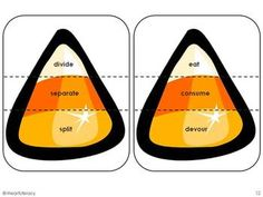 Candy Corn Synonyms - 4th & 5th Grade Synonym Activity                                                                                                                                                                                 More Teaching Schools, Teaching Writing, Teaching English, Synonym Activities, Speech Therapy Activities, Halloween Activities, Autumn Activities, Future Classroom, Classroom Ideas