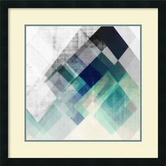 Teal Mountains I by Amy Lighthall Framed Graphic Art